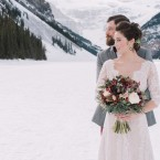 Lake Louise winter wedding inspiration | Naturally Chic (www.naturallychic.ca) | Photo by Darren Roberts Photography