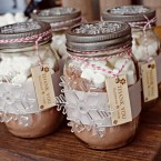 custom hot cocoa favors | winter wedding designed by Naturally Chic | Photo by Orange Girl