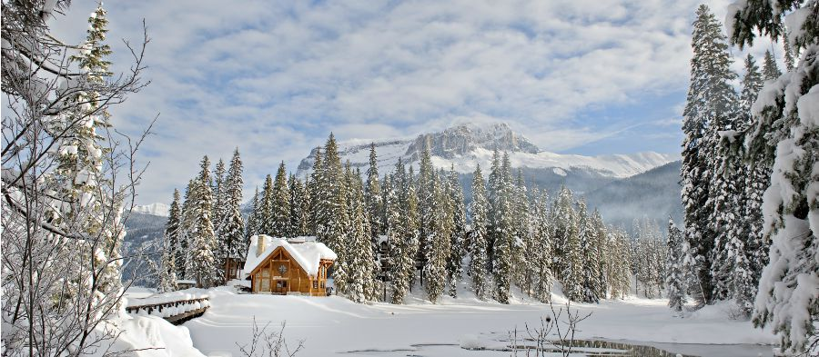 Naturally Chic Winter Wedding Paradise at Emerald Lake Lodge | Photo by Orange Girl