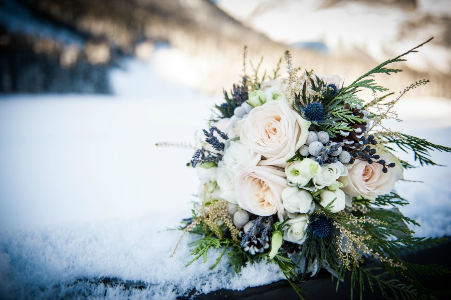 Emerald Lake Lodge winter wedding from Naturally Chic| Photo Credit: f8 Photography Inc.