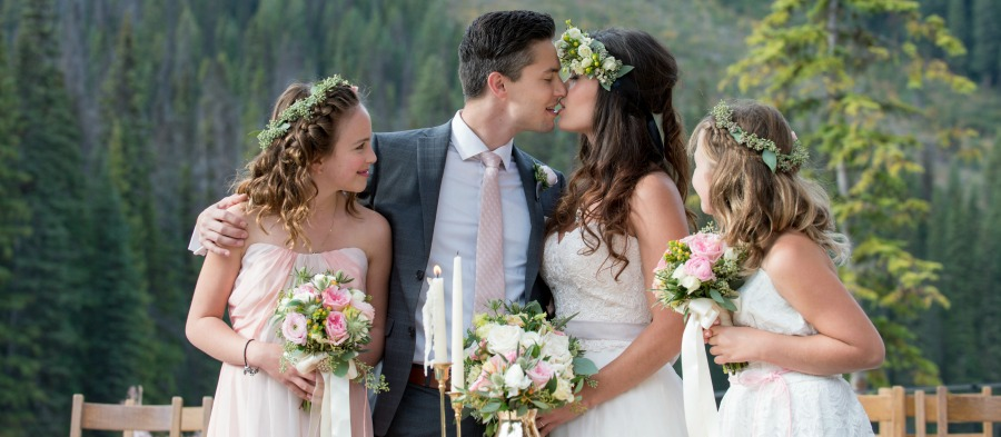 Elegant emerald lake wedding by Naturally Chic