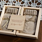 custom wood box with hand warmers | winter favour | made by Naturally Chic | www.naturallychic.ca | Photo by Orange Girl