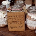 custom hot chocolate favors by Naturally Chic | Photo by Orange Girl