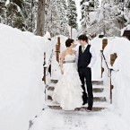Emerald Lake Lodge winter wedding | Design by Naturally Chic (www.naturallychic.ca) | Photo by Orange Girl